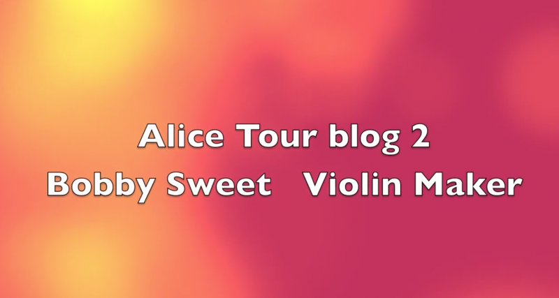 Alice Blog 2 Bobby Sweet Violin Maker